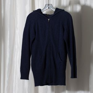 Sweaters - Wool and cashmere zip Up Hoodie